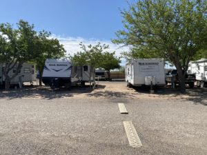 Full-hookup RV spaces large enough for your rig and vehicle