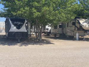 Large RV sites with mature trees